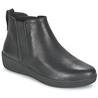 Shoes Women Mid boots FitFlop SUPERCHELSEA BOOT Black