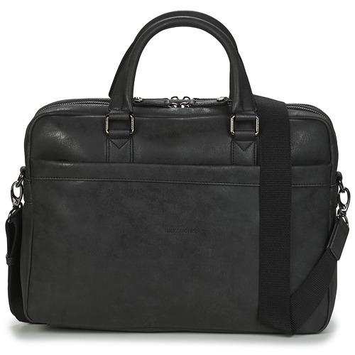 Bags Men Briefcases Hexagona PORTE DOC FOIVO Black