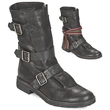 Shoes Women Mid boots Felmini CREPONA Black