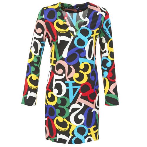 material Women Short Dresses Love Moschino PICHANI Multicoloured