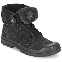Shoes Men Mid boots Palladium US BAGGY Black / METALLIC