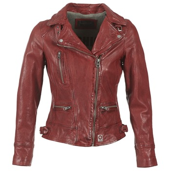material Women Leather jackets / Imitation leather Oakwood 62065 Red