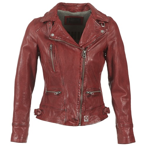 material Women Leather jackets / Imitation leather Oakwood VIDEO Red