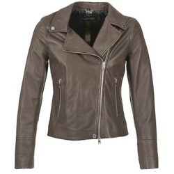 material Women Leather jackets / Imitation leather Oakwood 62049 Grey / Clear