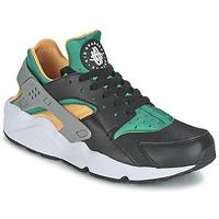 Shoes Men Low top trainers Nike AIR HUARACHE RUN Black / Yellow / Green
