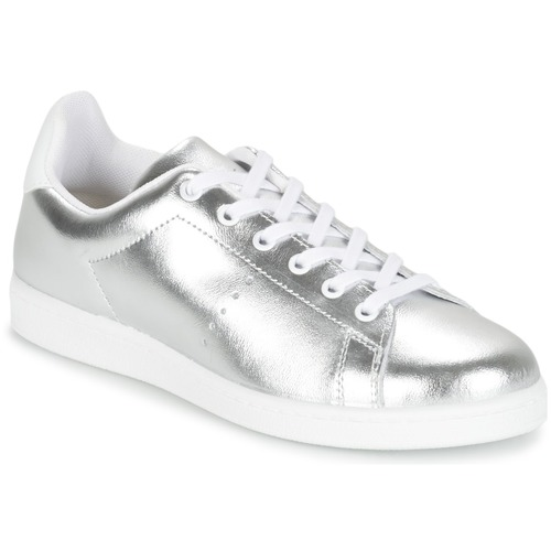 Shoes Women Low top trainers Yurban EXIVILE Silver