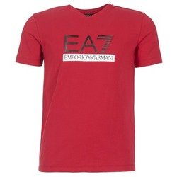 material Men short-sleeved t-shirts Emporio Armani EA7 MOFRAGO Red