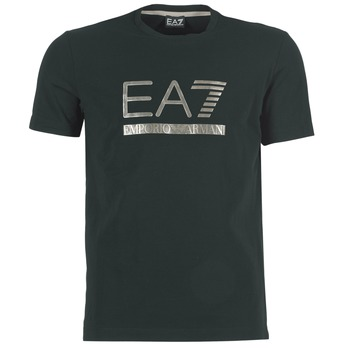 material Men short-sleeved t-shirts Emporio Armani EA7 MAGGAROL Black