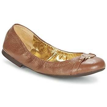 Shoes Women Ballerinas Lauren Ralph Lauren BETHENNY Cognac