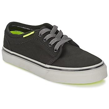 Shoes Children Low top trainers Vans 106 VULCANIZED Black / Grey / Yellow
