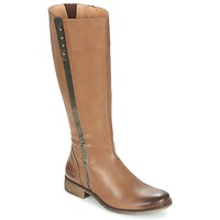 Shoes Women Boots Kickers LONGBOTTE Brown / Gold