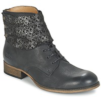 Shoes Women Mid boots Kickers PUNKYZIP Black / Brillant