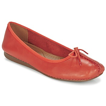 Shoes Women Ballerinas Clarks Freckle Orange