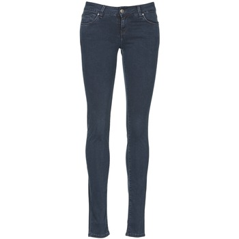 material Women slim jeans School Rag NEW LINDSEY Blue / Raw