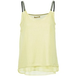 material Women Tops / Sleeveless T-shirts Les P'tites Bombes BRICCOM Yellow