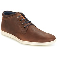 Shoes Men High top trainers Casual Attitude CALER Brown