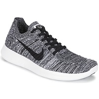 Shoes Women Running shoes Nike FREE RUN FLYKNIT W White / Black