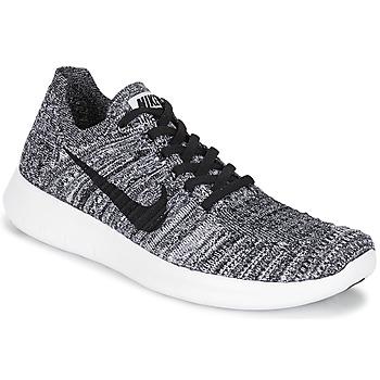 Shoes Women Running shoes Nike FREE RUN FLYKNIT W White / Black