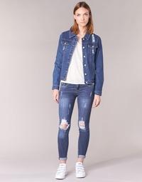 material Women slim jeans Yurban FOUNOLE Blue / Medium