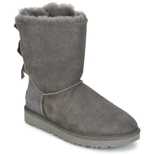 ace3a9e099f UGG BAILEY BOW II Grey - Fast delivery with Spartoo Europe ! - Shoes ...
