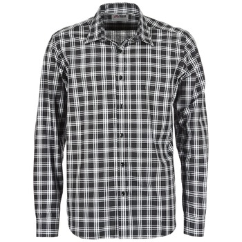 material Men long-sleeved shirts Yurban FLENOTE Black / White