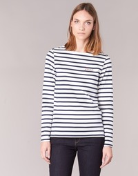 material Women Long sleeved shirts Betty London IFLIGEME White / Blue