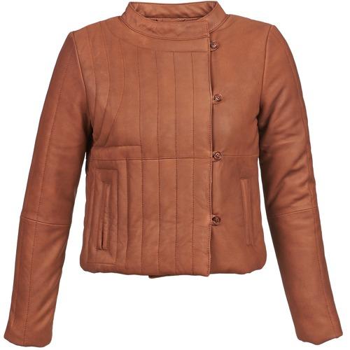 material Women Leather jackets / Imitation leather Antik Batik YOANN Cognac