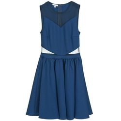 material Women Short Dresses Brigitte Bardot BB45080 Blue