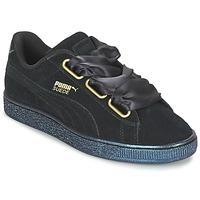 Shoes Women Low top trainers Puma BASKET HEART SATIN WN'S Black