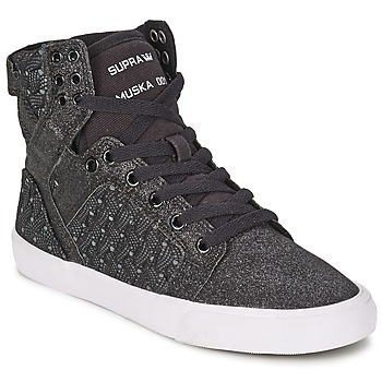 Shoes Women High top trainers Supra SKYTOP Black / White