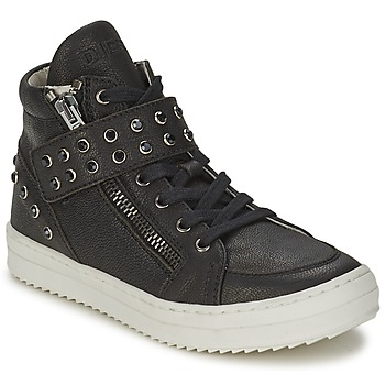 Shoes Girl High top trainers Diesel TREVOR Black