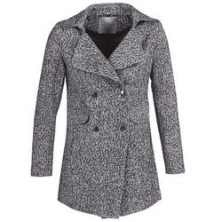 material Women coats Casual Attitude GRINIS Grey / Black