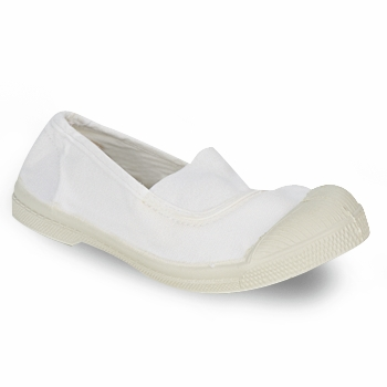 Shoes Children Ballerinas Bensimon TENNIS ELASTIQUE White