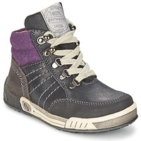Shoes Boy High top trainers Garvalin TOMAS Grey / Violet