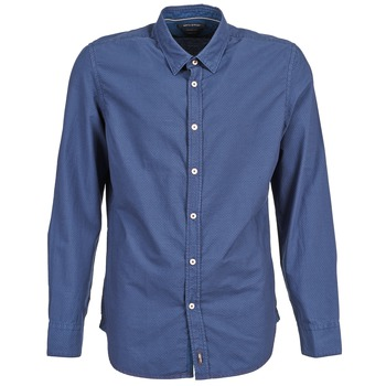 material Men long-sleeved shirts Marc O'Polo CELSUS Blue / MARINE / Red