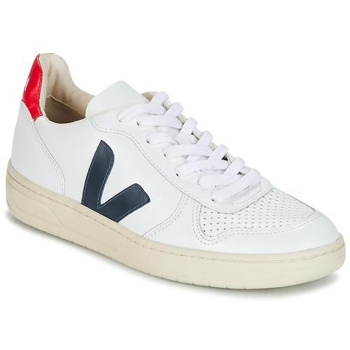 Veja V-10 White / Blue / Red - Fast