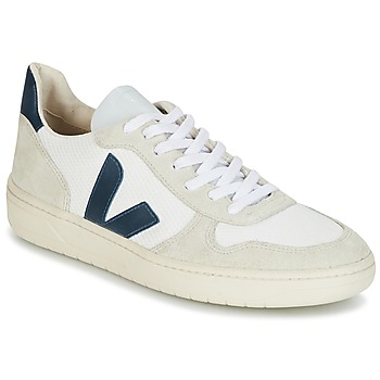 Shoes Low top trainers Veja V-10 White / Blue