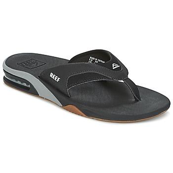 Shoes Men Flip flops Reef FANNING Black / Grey