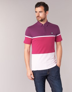 material Men short-sleeved polo shirts Armani jeans MARAFOTA Violet / Red / White