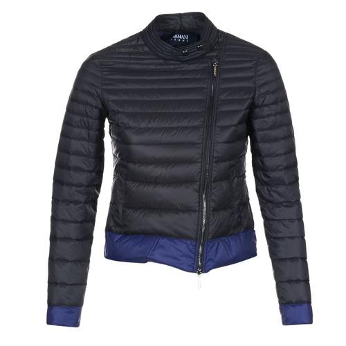 material Women Duffel coats Armani jeans BEAUJADO Black / Blue