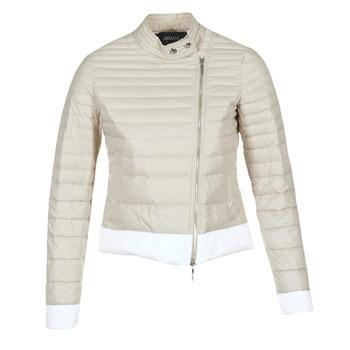 material Women Duffel coats Armani jeans BEAUJADO BEIGE / White