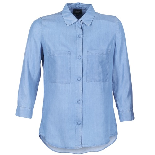 material Women Shirts Armani jeans OUSKILA Blue