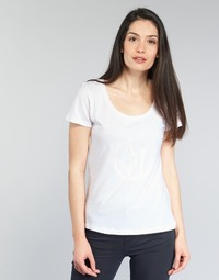 material Women short-sleeved t-shirts Armani jeans LASSERO White