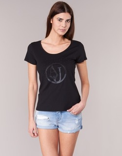 material Women short-sleeved t-shirts Armani jeans LASSERO Black