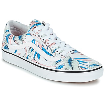 Shoes Women Low top trainers Vans OLD SKOOL White / Blue