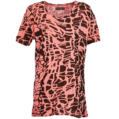 material Women short-sleeved t-shirts Religion HAWK Red / Black