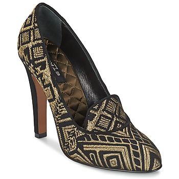 Shoes Women Court shoes Etro 3055 Black / GOLD