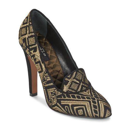 Shoes Women Court shoes Etro 3055 Black / Gold