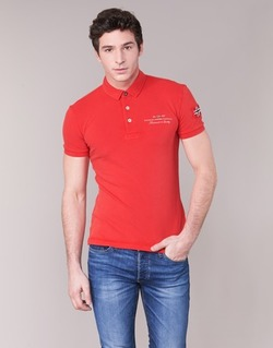 material Men short-sleeved polo shirts Napapijri ELBAS Red