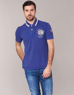 material Men short-sleeved polo shirts Napapijri GANDYS Blue